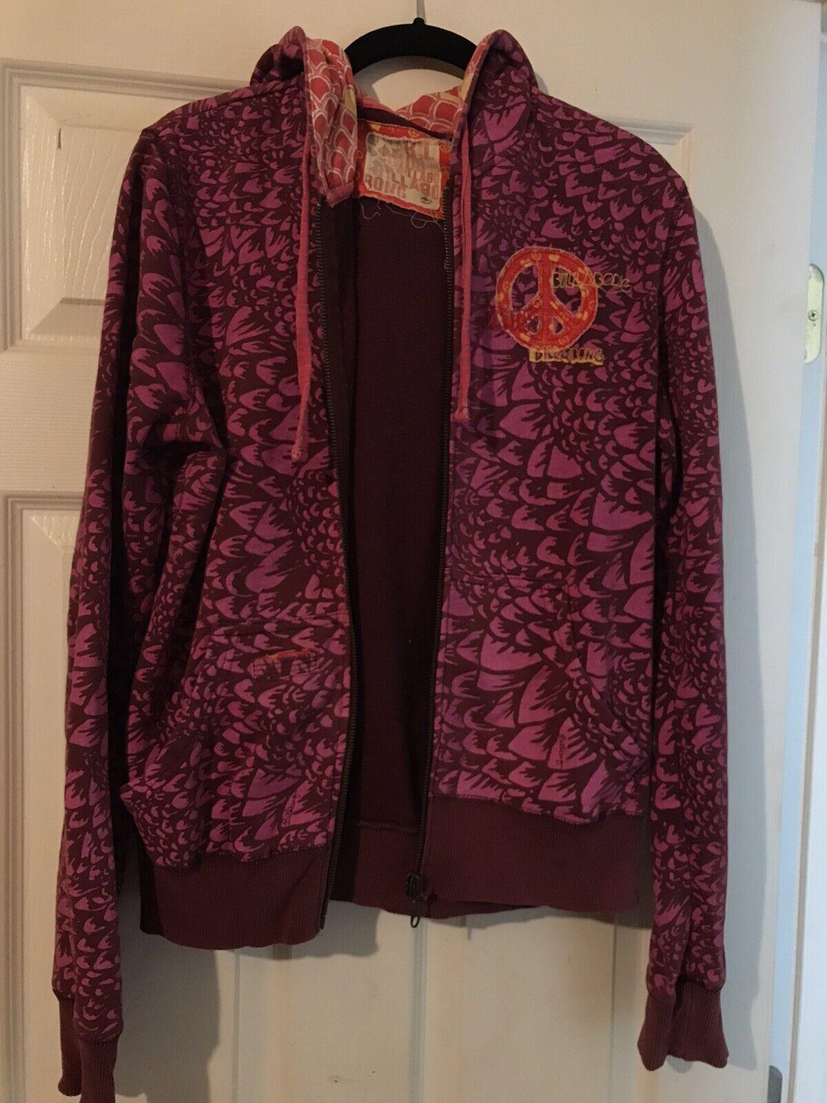Billabong Hooded Jacket With 2 Outside Pockets- Women's Medium