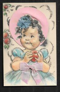 Carte-Postale-Germaine-BOURET-DECOUPI-ET-PAILLETTE-Dim-9-X-14-Cm