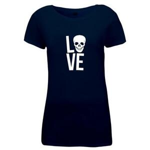 Damen-T-Shirt-LOVE-Skull-Totenkopf-Design-Style