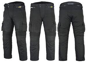 Para-Hombre-Ce-Blindado-Motocicleta-Cordura-Moto-Impermeable-Pantalones-Cargo-Pantalones