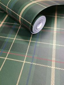 Tartan Carreaux Plaid Papier Peint Coller Le Mur Oxford Exclusive Wallcoverings-afficher Le Titre D'origine Adopter Une Technologie De Pointe