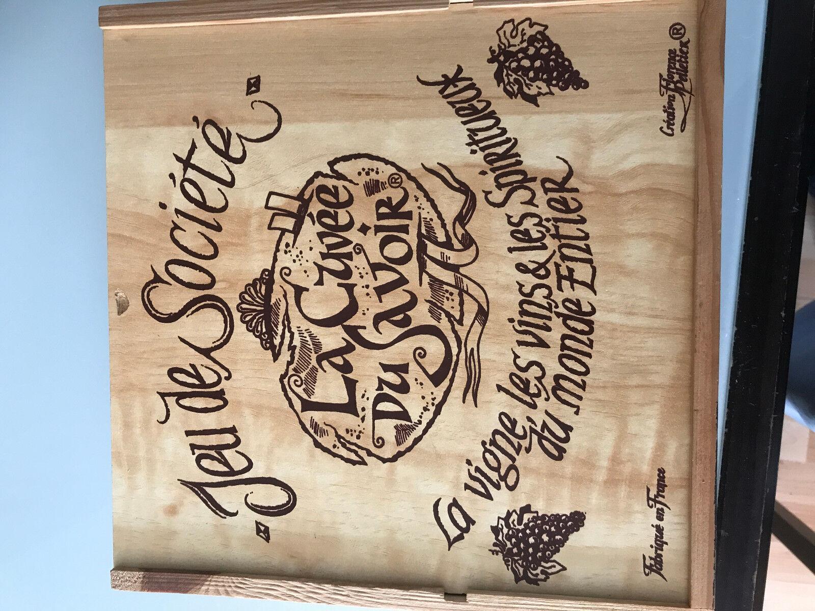 TRES RARE jeu de societe sur le vin LA CUVEE DU SAVOIR 1993 boite bois