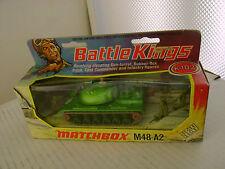 1974 MATCHBOX LESNEY BATTLE KINGS K-102 M48-A2 TANK NEW IN DAMAGED BOX