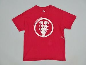 Audio-Council-Guitar-Players-Headstock-Logo-Red-Mens-T-Shirt-Size-L