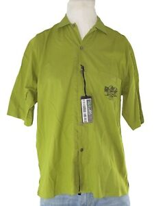 riverside-camicia-uomo-verde-cotone-manica-corta-taglia-l-large-regular