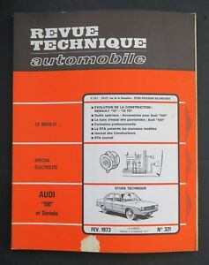 REVUE-TECHNIQUE-AUTOMOBILE-RTA-AUDI-100-RENAULT-12-n-321