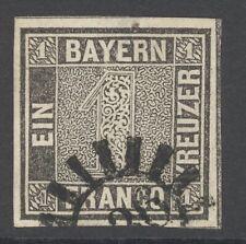 Bayern Einser Mi. Nr. 1 IIa gest. Attest Sem BPP 3.500 Euro