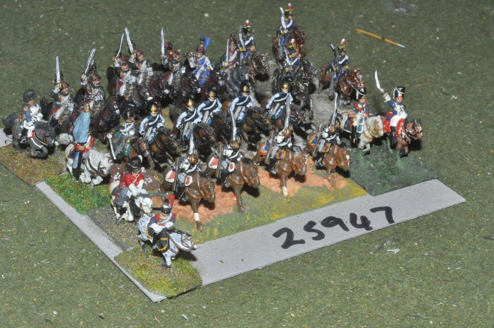 15mm napoleonic   generic - mixed painted 26 figures - cav (25947)