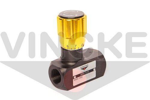 Limiteur de débit hydraulique limiteur de débit unidirectionnel corps acier 1//4