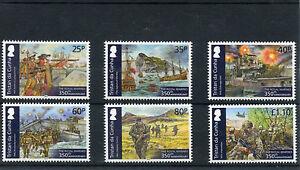 Tristan da Cunha 2014 MNH Royal Marines 350th 6v Set Normandy Invasion Stamps