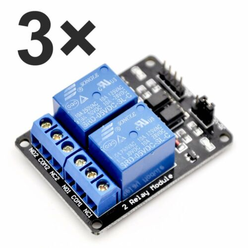 Mcigicm 3Pcs 2 Channel Dc 5V Relay Module For Arduino Uno R3 Dsp Arm Pic Avr Stm