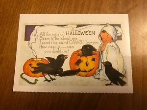 Retro-Halloween-Themed-Postcard-43-NEW-Pagan-Wicca-Gothic