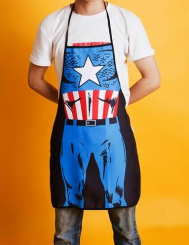 Marvel Be The Character Captain America Superhero Creative Funny Cooking Apron
