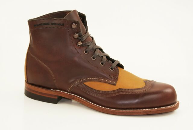 031451d798f Wolverine 1000 Mile Wingtip Addison Boots Ankle Boots Lace up Boots W06000