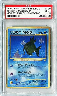 Pokemon Japanese Fan Club SHINING MAGIKARP Promo Graded PSA 9 MINT 2000 600 Pt.