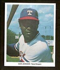 1973 1974 Alex Johnson Texas Rangers Baseball Promo Photo 7 x 8 Inch