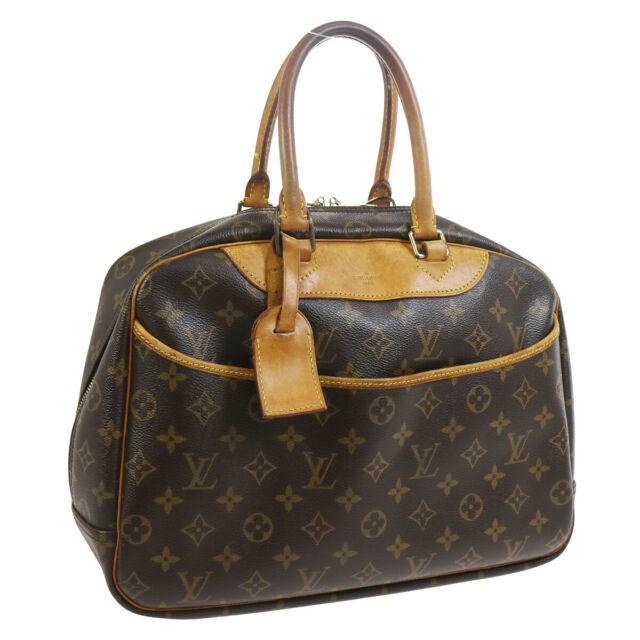 LOUIS VUITTON DEAUVILLE BUSINESS HAND BAG PURSE MONOGRAM CANVAS M47270 33830