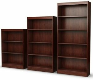 3 4 5 shelf royal cherry matching bookcases book shelves bookshelf rh ebay com cherry bookshelves on ebay cherry bookshelves with doors