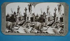 WW1 Stereoview Photo Smashed French Graves German Sniper Found Realistic Travels