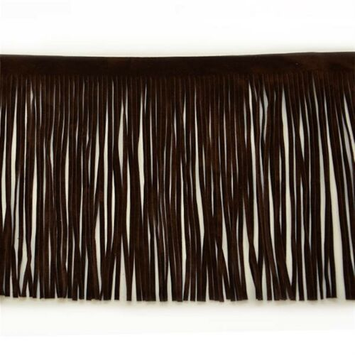"""Expo 10 yards of 6/"""" Faux Suede Fringe Trim"""