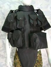 US MILITARY TACTICAL AIRSOFT PAINTBALL PLATE CARRIER COMBAT OTV COMBAT VEST BK
