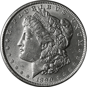 BU 1890-S Morgan Silver Dollar Brilliant Uncirculated