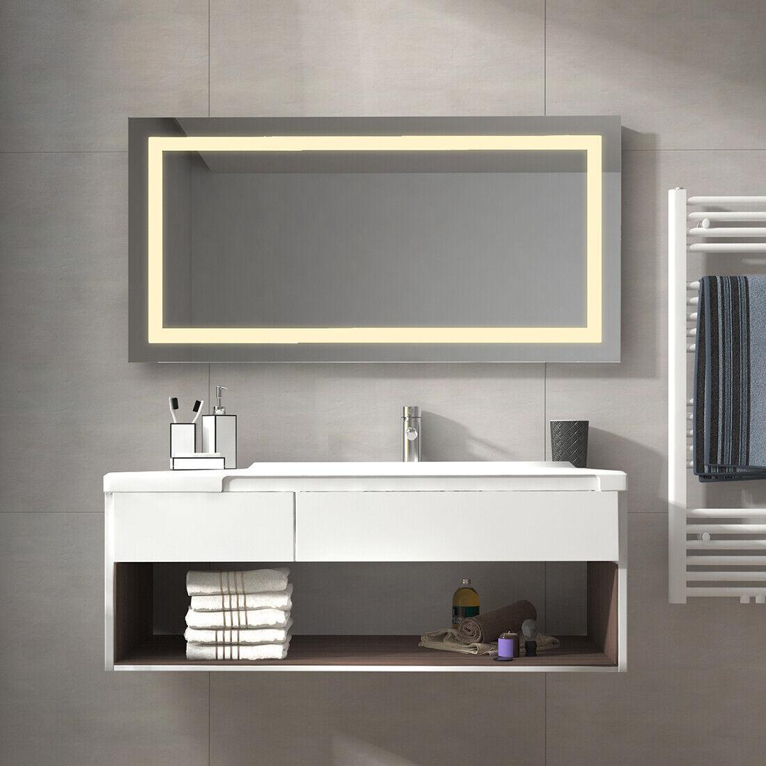 Design Badspiegel LED mit Beleuchtung Spiegel Lichtspiegel 60x80 80x60 120x60