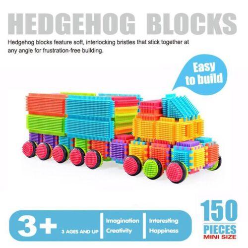 Bristle Blocks 150Pcs 3D Shape Building Tiles Construction Play Boards Kid Toys