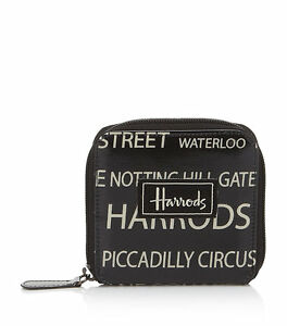 a48d38db06 Details about HARRODS NEW SEASON STREETS OF LONDON DESIGN CARD AND COIN  PURSE WALLET