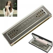 Swan 24 Holes Key of C and G Double-side Tremolo Harmonica