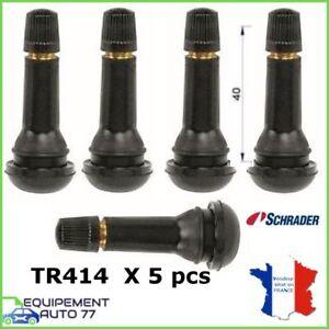 lot de 5 valves pour pneus avec bouchon tr 414 long 40 mm pour jante tubeless ebay. Black Bedroom Furniture Sets. Home Design Ideas
