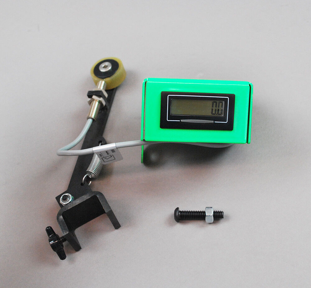 Line Counter Retro fit for Super Spooler spool holder in Green