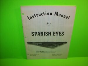Williams-Spanish-Eyes-Original-Pinball-Machine-Game-Instruction-Repair-Manual