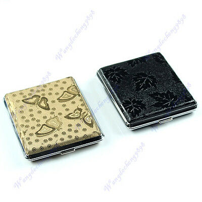 18 pcs Various Styles Stainless Steel Pocket Cigarette Side Tobacco Box Case New