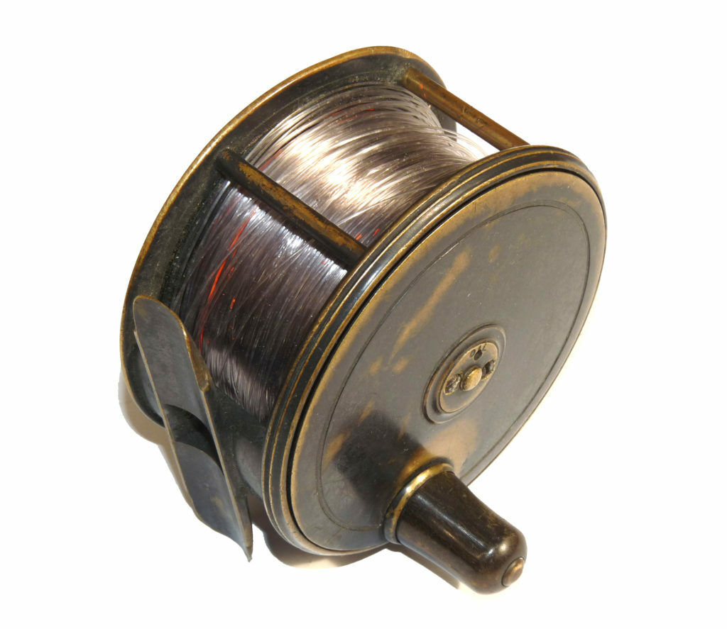 Farlow  all brass Patent Lever vintage salmon fly reel 191 & 10 Charles st add...  cheap store