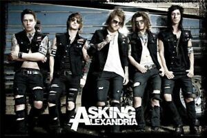 ASKING ALEXANDRIA ~ WINDOWS 24x36 MUSIC POSTER Ben Bruce NEW//ROLLED!