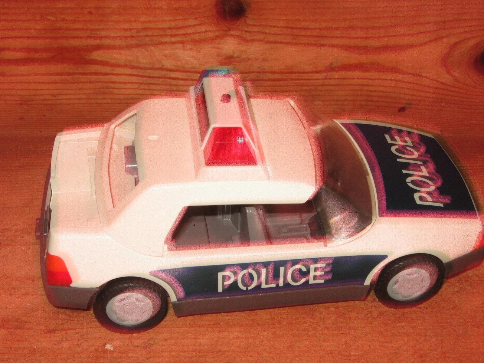 Playmobil 1997 coche de policía pushalong 8 INS INS INS Larga Luces Intermitentes Techo Desmontable aff330