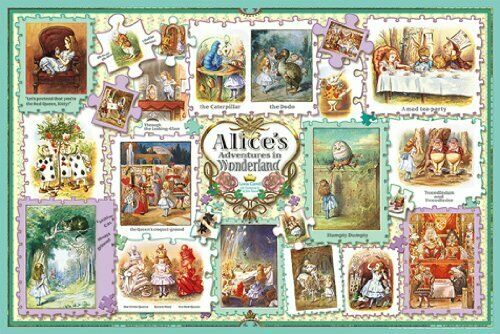 1000 piece jigsaw puzzle Alice in Wonderle Tenniel  collection (50x75cm)  una marca di lusso