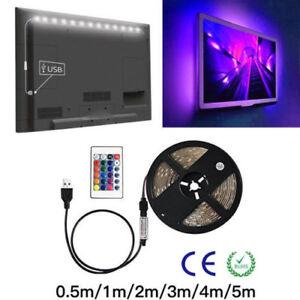 RGB-5050-LED-Strip-Light-Bar-5V-60Chip-M-TV-Back-Lighting-Kit-USB-Remote-Control