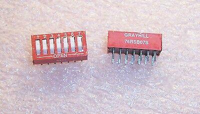 76SB07S GRAYHILL 76SB07 SWITCH ROCKER DIP SPST 150MA 30V 4 PIECES