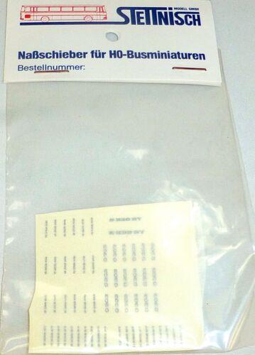 Typenschilder MB Neoplan Setra Nassschieber Busbeschriftung O303 S228DT 1:87 å