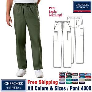 Cherokee Scrubs PROFESSIONAL Men/'s Drawstring Cargo Pant WW190 Regular Petite