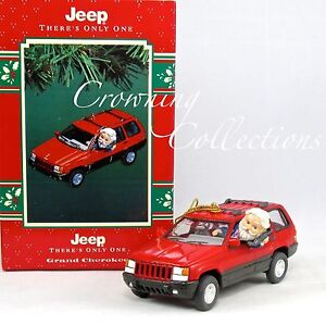 Jeep Christmas Ornament.Details About Enesco Jeep Grand Cherokee Treasury Of Christmas Ornament There S Only One Santa