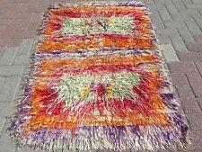 """Anatolian Turkish Antalya Nomads (Shaggy)  38,1"""" X 53,9"""" Area Rug Kilim Carpet"""