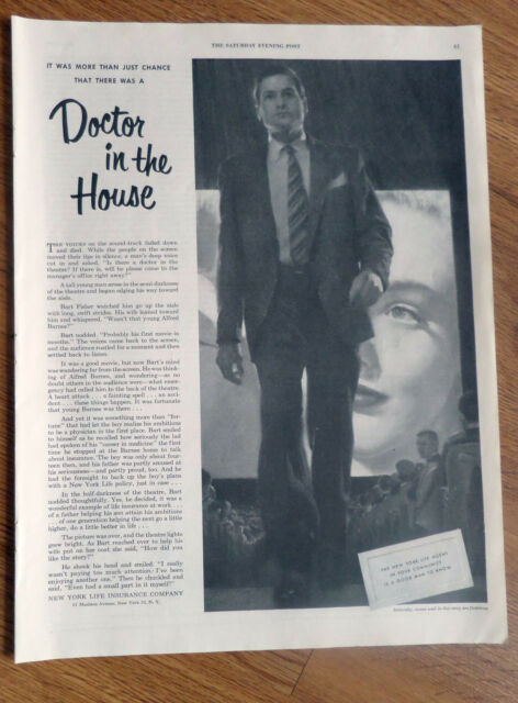 1950 New York Life Insurance Agent Ad Doctor in the House   eBay