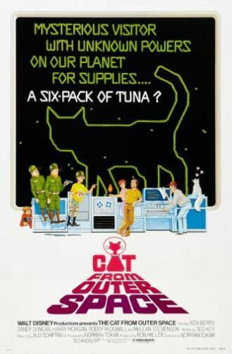 Cat From Outer Space Movie Poster 24in x36in