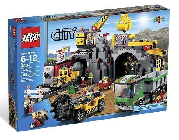 Lego City Town Mining 4204 or THE MINE Crane Train Minerals Minifigures NISB
