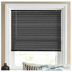 Details About Black Pvc Window Blind Venetian Blinds Bedroom Office Strong Easy Fit New Home