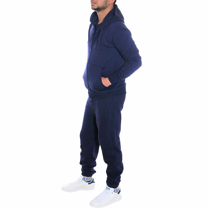 Mens Tracksuits Zip Hoodie Jogger Sets Top Jogging Bottom Fleece Track Sweater