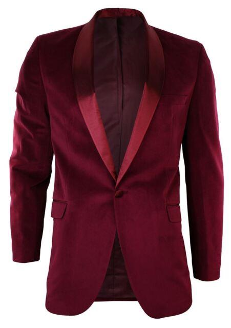 Royal Blue Robelli Men/'s Velvet Single Breasted Slim Fit Blazer Wedding Jacket